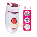 3in1 Rechargeable Women Electric Epilator Lady Shaver Callus Remover Female Depilatory Hair Remover Body Bikini Face Upper Lip