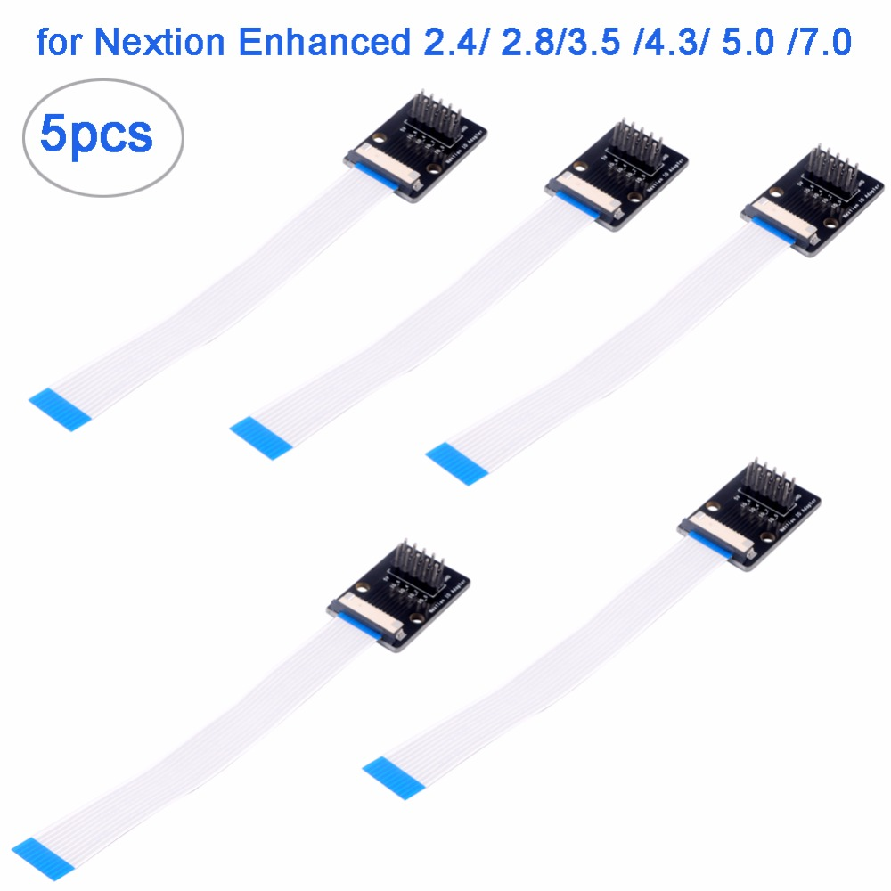 5pcs Nextion IO Adapter For 7.0/5.0/4.3/3.5/3.2/2.8/2.4 Inch Nextion Enhanced Dispaly GPIOs I/O Extended RCmall FZ2804