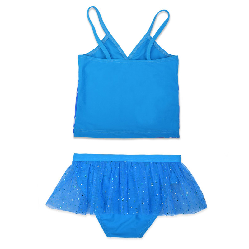 JUYABEI Two Pieces Baby Girls Bathing Suit Elsa Anna Sophia Swimsuit Children Bikini Set Kids Cartoon Swimwear Costumes