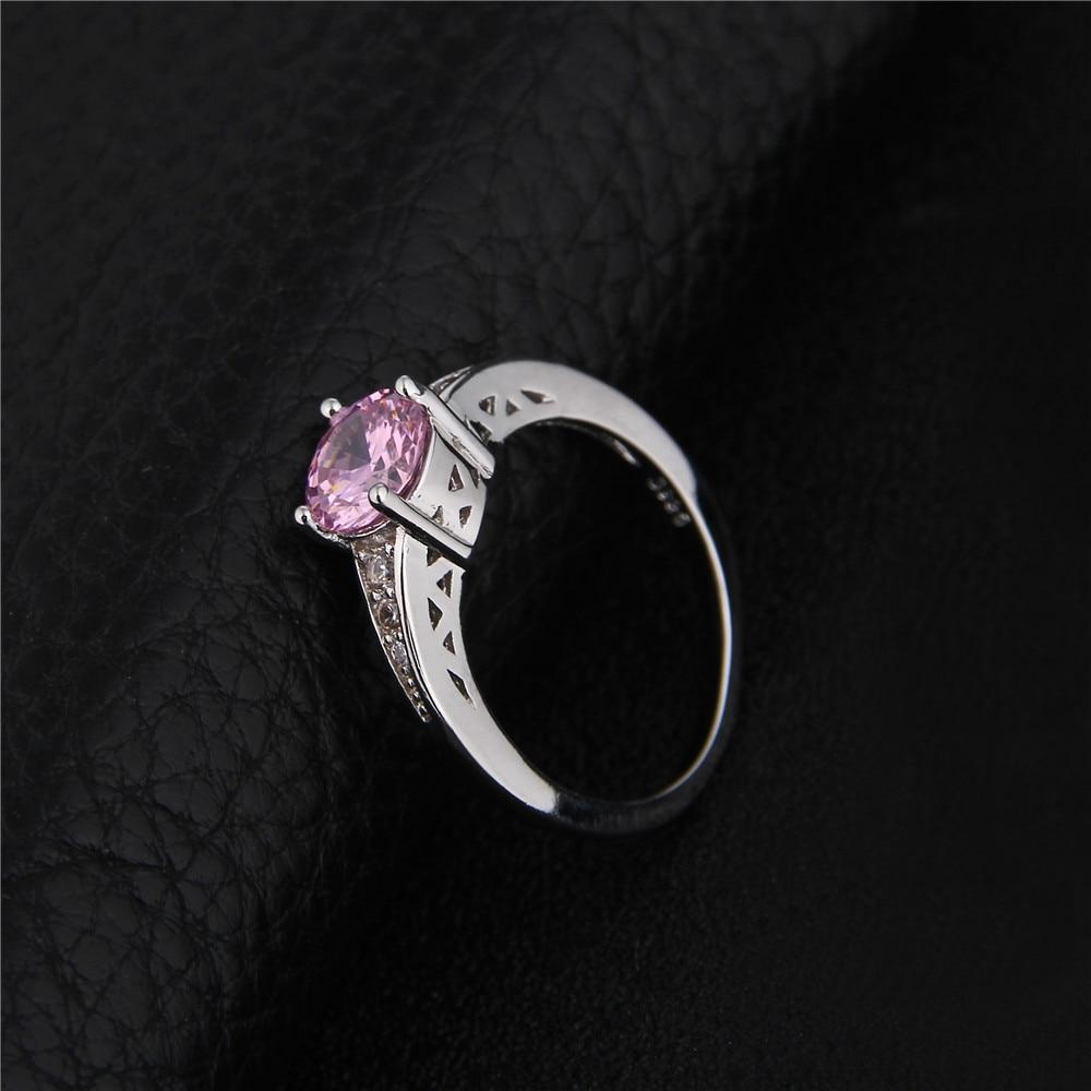 Nette rosafarbene österreichische Kristallringe für Frauen 925 - Modeschmuck - Foto 4