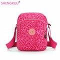 Shengxilu повседневная женщины сумки на ремне нейлон розовый леопард марка женские сумки девушки посланник сумки малый crossbody женщин сумки