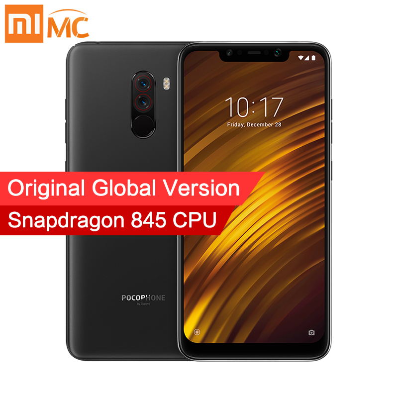 Global Version Xiaomi POCOPHONE F1 6GB 128GB Smartphone Snapdragon 845 Octa Core 6.18″ 2246 x 1080 FHD LiquidCool AI Dual Camera