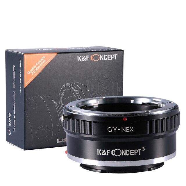 K & f concepto c/y-nex lente anillo para contax yashica c/y montaje lente para sony e nex-c3 nex-vg10 nex3 nex5 nex-5n cámara de montaje adaptador