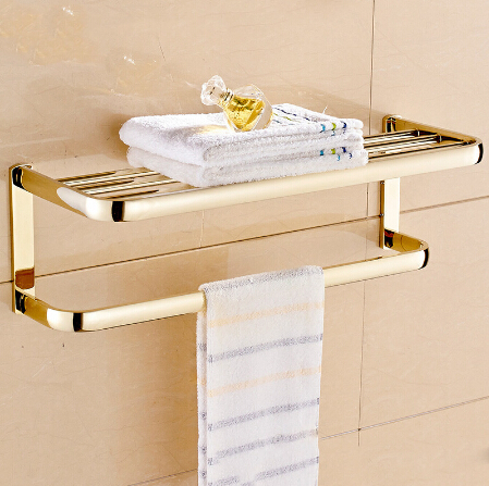 New arrival Towel Racks Luxury Bathroom Accessories High Quality Fixed Bath Towel Holder Shelves Towel Bar Bath Towel hanger meifuju new arrival towel racks luxury bathroom accessories high quality golden finish bath towel shelf towel bar bath hardware