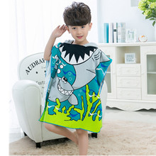 Kids Cartoon Bath Towel Baby Boys Girls Hooded Beach Towel Children Hooded Towel Swimming Cloak все цены