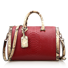 new style Serpentine  genuine leather women handbag Top grade mi ni crossbody shoulder bag