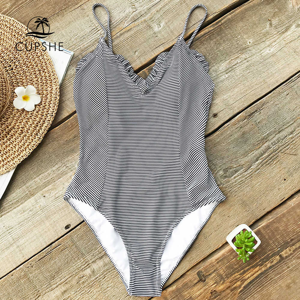 665e7299197 Detail Feedback Questions about CUPSHE Black And White Striped One ...
