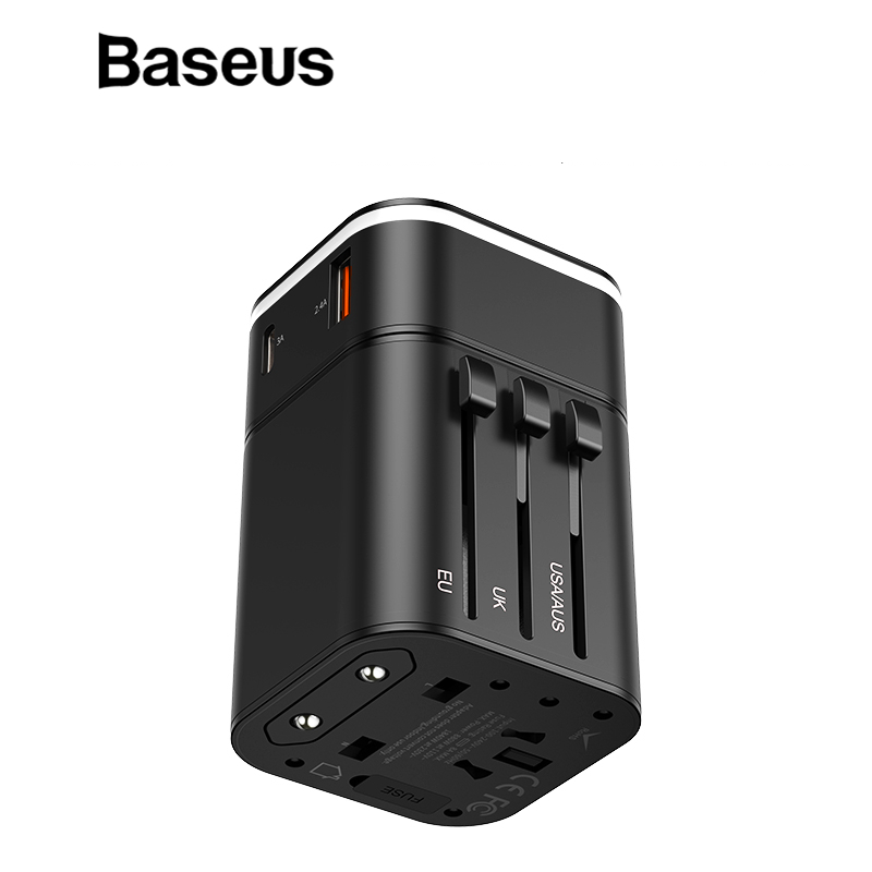 baseus 18w travel eu usb charger support quick charge 3 0. Black Bedroom Furniture Sets. Home Design Ideas