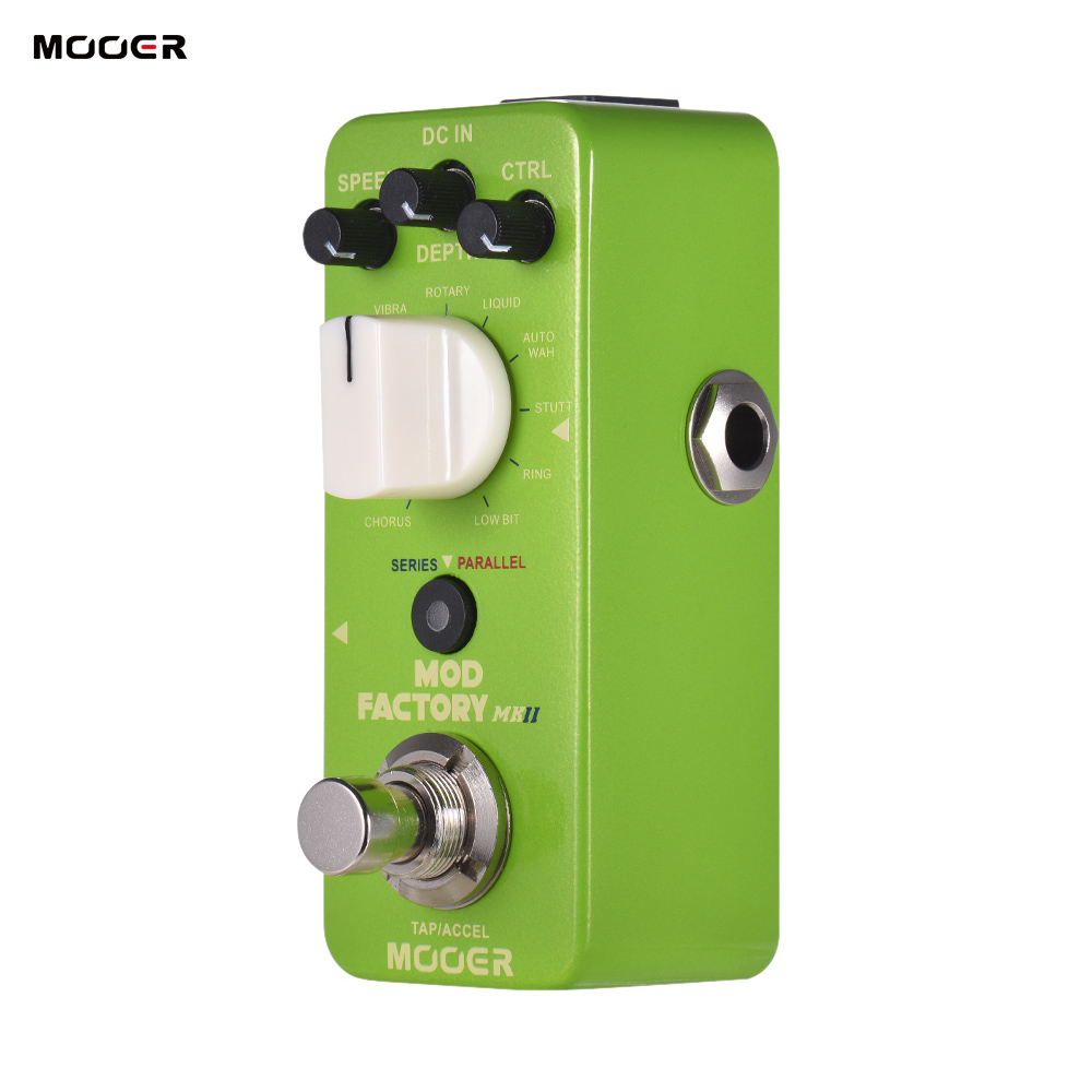 MOOER MOD FACTORY MKII Multi Modulation Effect Pedal 11 Modulation Effects Tap Tempo True Bypass Metal