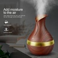 Ejoai KBAYBO 300ml Electric Aroma Essential Oil Diffuser Ultrasonic Air Humidifier Wood Grain LED Lights Aroma