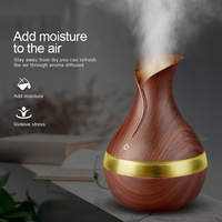 Ejoai 300ml USB Electric Aroma Essential Oil Diffuser Ultrasonic Air Humidifier Wood Grain LED Lights Aroma