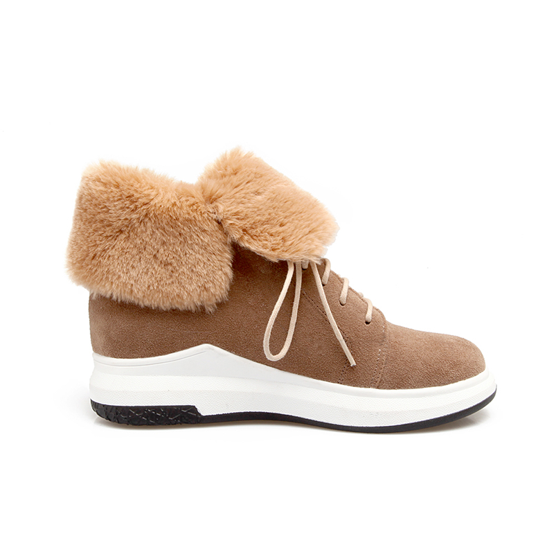 DoraTasia large sizes 32-43 brand shoes woman fashion lace up casual shoes autumn winter leisure ankle boots women shoes