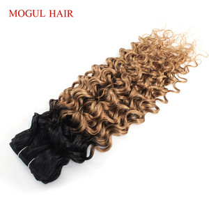 Image 5 - Mogul Hair Water WAVE ผมสานสีธรรมชาติ 1 Bundle สีน้ำตาลเข้ม Ombre น้ำผึ้งน้ำผึ้ง Non Remy มนุษย์ hair EXTENSION