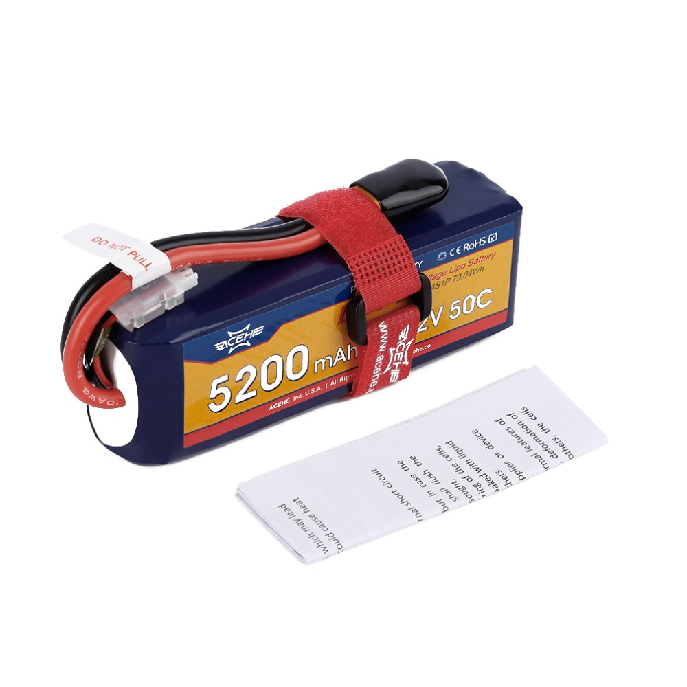 Acehe 4S1P  Lipo Battery 15.2V 5200mAh 50C 79.04Wh XT60 Plug High Voltage Lipo Battery  For RC Helicopter Boat Truck