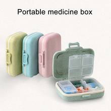 Portable Pill Case 6 Compartment Travel Vitamin Medicine Organizer Removable Inner Divider Container DC88