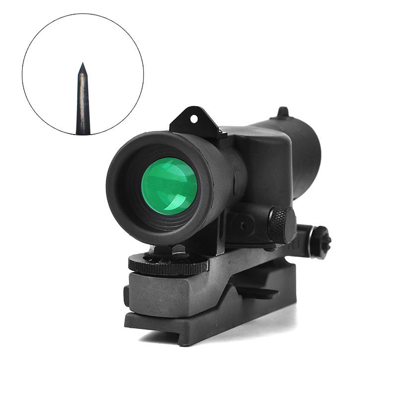 L85 SUSAT Iron Sight 3.5x30 Optical Sight Red Illuminated Rifle Scope Quick Detach Hunting Scopes for Airsoft Weaver Mount