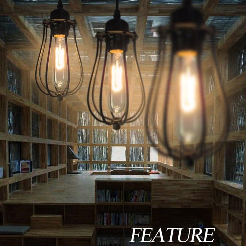 Vintage Rétro Loft Pendentif Lampe De Fer Métallique suspendu