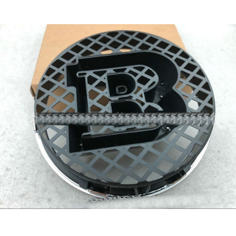 18.5cm B Emblem Kit For Mercedes BRABUS W463 G500 G350 G63 G65 Grille Center Emblem Badge