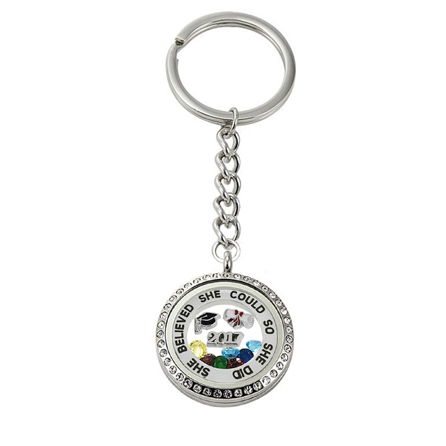 she believe she could she did graduation diploma doctorial  she believe she could she did 2017 graduation diploma doctorial hat school anniversary gift memory keyring