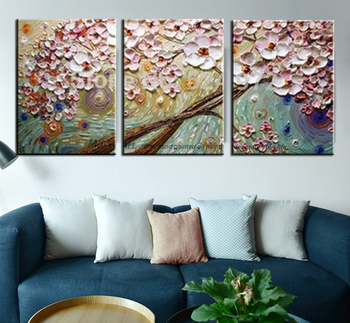Modern paintings acrylic flower Painting decorative canvas painting abstract art palette knife painting for living room bedroom
