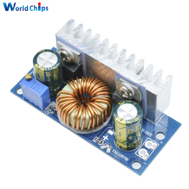 DC-DC Boost Converter Non-isolated Step-Up Power Supply Module With Heat Sink Adjustable 4.5V-32V To 5-42V 6A
