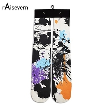 Raisevern Harajuku Socks Fashion 3D Print Camouflage/Capsule/Emoji/Weed Socks Men Women Fashion Thick Socks Mid-length Socks