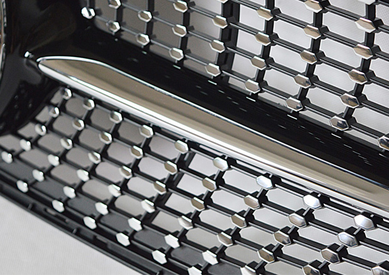 Fits For MercedesMB W205 Sports Diamond grille grill ABS black Without Sign C class C180 C200 C250 C63 look Front grills 2015 18 in Racing Grills from Automobiles Motorcycles