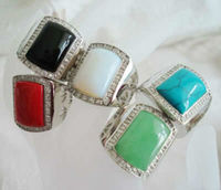 Wholesale 5PC Agate Coral Opal Turquose Jade size:8 10