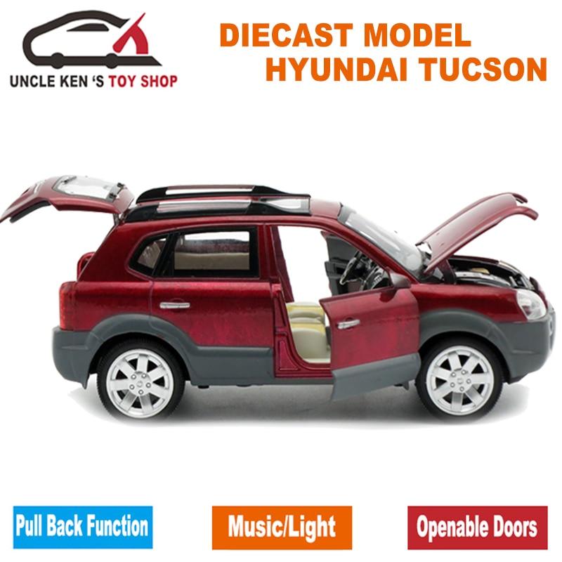真新しい現代歳ツーソンスケールダイキャストモデル車、金属おもちゃギフト子供のためと開閉ドア/プルバック機能 Becomes Mobile True