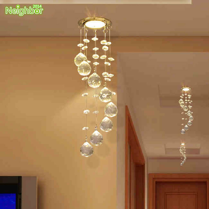 New Suspension Hanging Crystal LED 3W Small Ceiling Lamp Corridor Balcony Aisle Hallway Lights Living Room