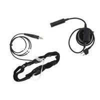עבור שני הדרך Tube אקוסטית אויר אוזניות אוזניות 2 פין PTT מיקרופון עבור מידלנד שני הדרך רדיו GXT550 / 650 GXT1000 GXT1000VP4 GXT1050VP4 (1)