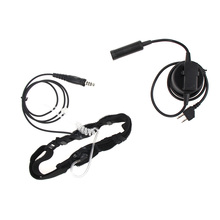 Acoustic Air Tube Headphone Earphone 2 Pin PTT Mic For Midland Two Way Radio GXT550/650 GXT1000 GXT1000VP4 GXT1050VP4