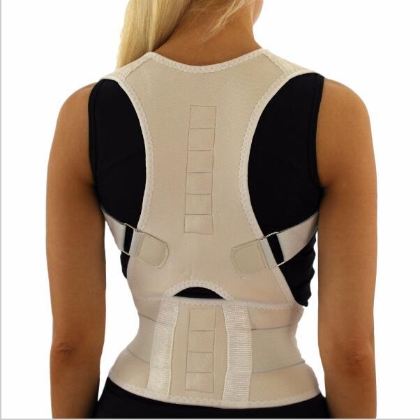 Magnetic Posture Corrector Men Back Corset Back Support Belt Orthopedic Back Straightener Belt Neoprene Vest Black White steel boned brocade corset vest