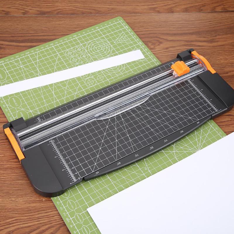 דיוק A4 נייר גוזם Cutters גיליוטינה תמונה חותך חיתוך מחצלת עם למשוך החוצה שליט עבור תמונה נייר תוויות חיתוך