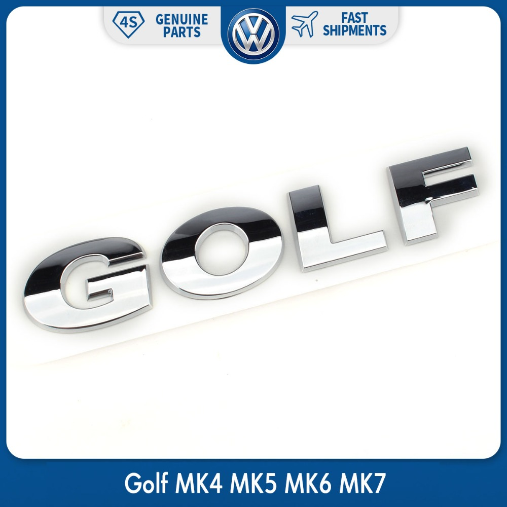 OEM Car Rear Trunk Lid Chrome Silver GOLF Emblem Sticker Badge Logo for VW Volkswagen ABS Decal kaos jeans юбка до колена