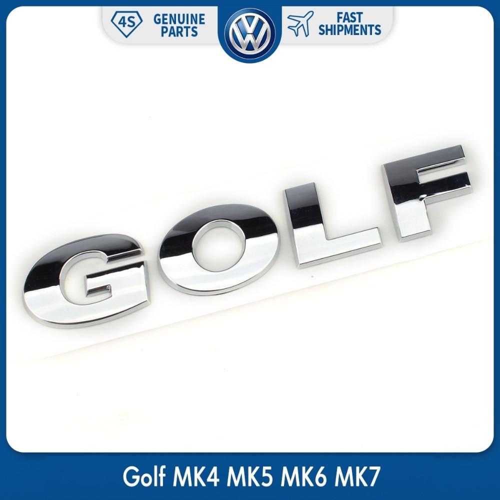OEM Car Rear Trunk Lid Chrome Silver GOLF Emblem Sticker Badge Logo for VW Volkswagen ABS Decal
