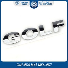 OEM Rear Trunk Lid Chrome Silver GOLF Emblem for VW Volkswagen ABS Decal