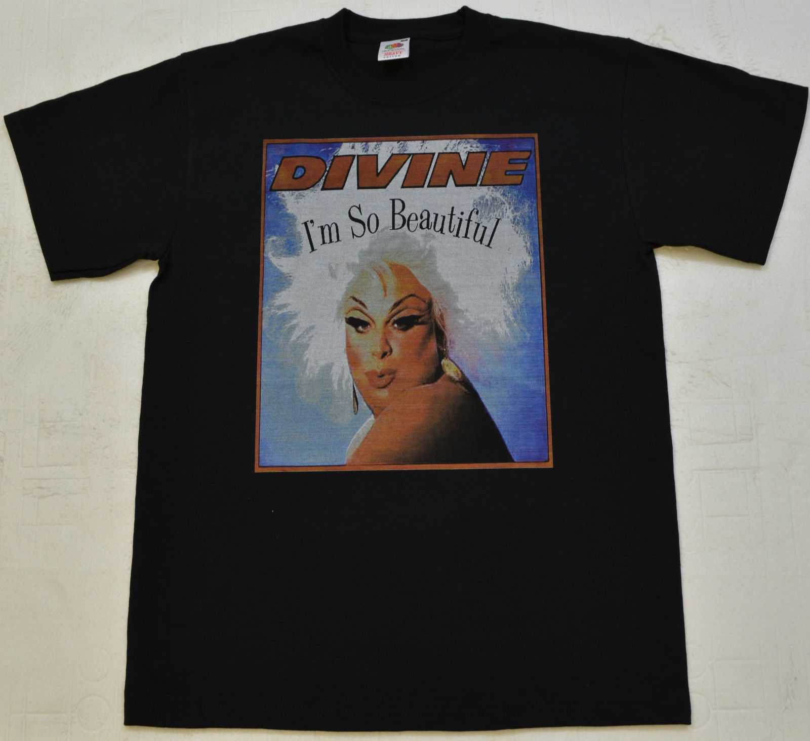 Gildan MENS BLACK T SHIRT DIVINE DRAG IM SO BEAUTIFUL PRINT JOHN WALTERS CULT S - 5XL ...