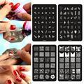 1 hoja lindo polaco stamping manicura placas placa de la imagen de konad sello del arte del clavo herramienta de bricolaje nail art rp1-5