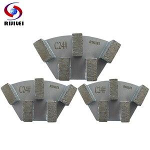 Image 4 - RIJILEI 12 adet sektörü Metal Bond elmas taşlama diski beton zemin taşlama için ayakkabı plaka güçlü manyetik taşlama diski A50