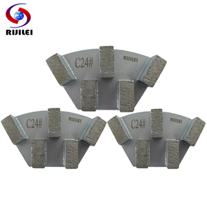 Image 4 - RIJILEI 12PCS Sector Metal Bond Diamond Grinding Disc for Concrete Floor Grinding Shoes Plate Strong Magnetic Grinding Disk A50