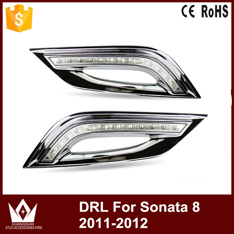Night lord For Hyundai Sonata 8generation 12led Daytime Running Lights LED DRL With LED Day Light Free Shipping hyundai ix55 3 8 пробегом