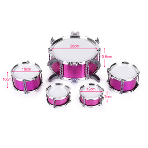 Image 4 - Children Drum Set  Jazz Musical Instrument Toy 5 Drums +1Small Cymbal Stool Drum Stick Music Toys Children Christmas Gift