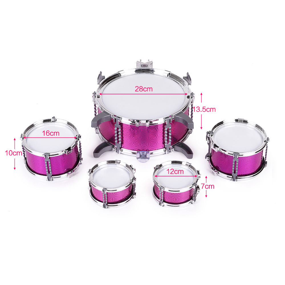 Image 4 - Children Toys Kids Drum Set Musical Instrument Toy 5 Drums with Small Cymbal Stool Drum Stick Music Toys for Children 2018 Gift-in Toy Musical Instrument from Toys & Hobbies