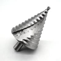 6 60MM HSS 4241 Spiral Flute Step Drill Bit 12 Steps 13mm Shank Increment Steel Step Cone Drill Bit Hole Cutting Twist Drilling
