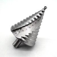 6 60MM HSS 4241 Spiral Flute Step Drill Bit 12 Steps 12mm Shank Increment Steel Step Cone Drill Bit Hole Cutting Twist Drilling