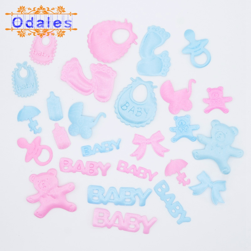 IRON ON APPLIQUE PATCHES BABY BEARS BLUE TEETHING RING LOT OF 10