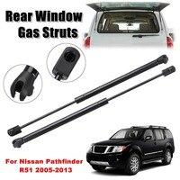 2 suportes de gás de vidro da janela traseira dos pces apoio sring para nissan pathfinder r51 2005-2013