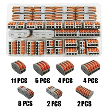 type 36PCS/BOX PCT 212-218 Universal Compact Wiring Conector Terminal Block Connectors Terminator Wire Connector AWG 28-12