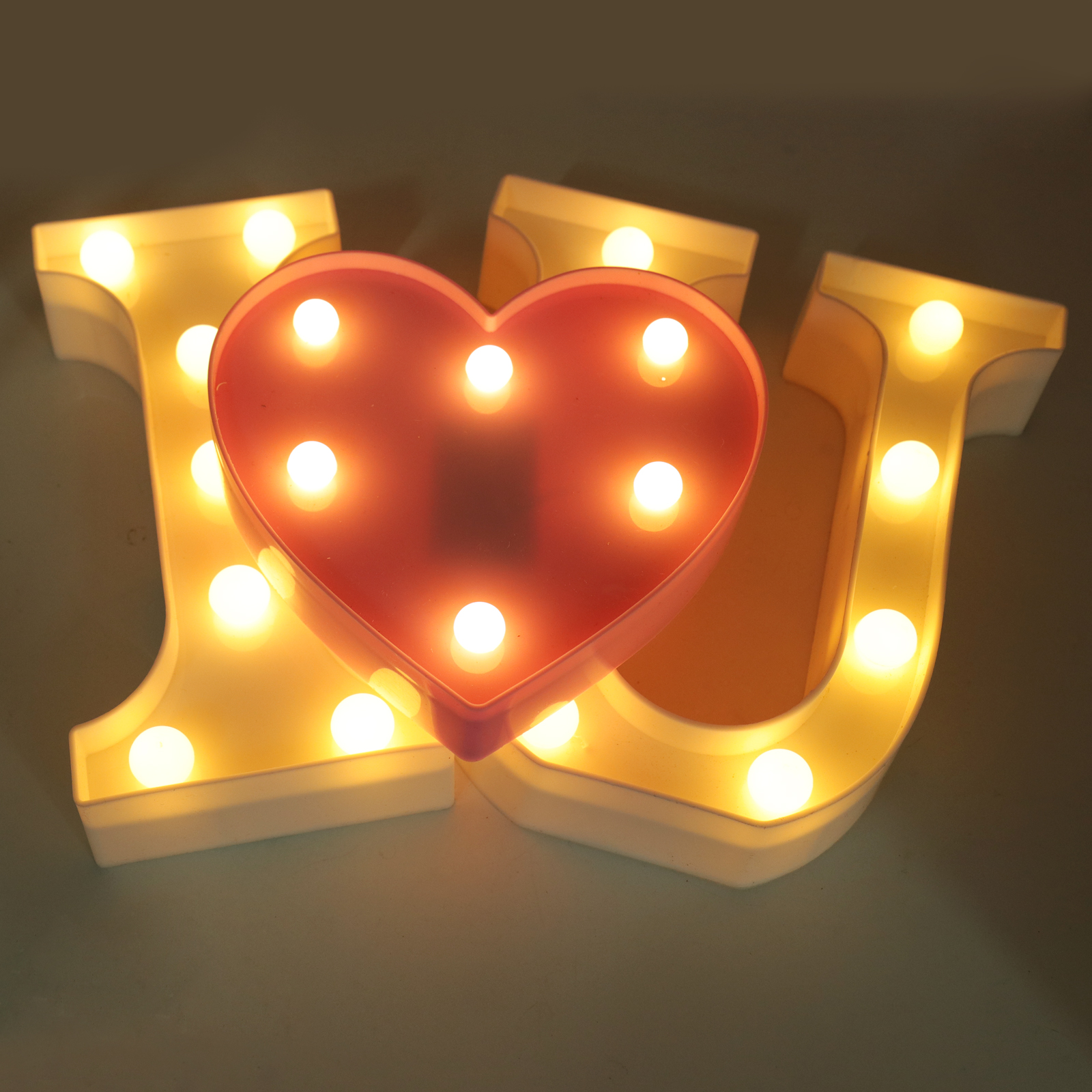 Led Symbol Modeling Lights Wedding Night Light Wedding Party